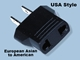 North American 2 Flat Blade Plug Adapter - MF-7