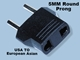 European/Asian Non-Grounded Plug 4mm MU-5