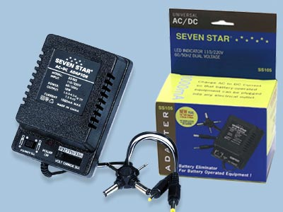 Universal AC/DC Adapter 110/240V 50/60hz 1000ma - SS105