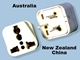SS-416 Australia New Zealand China Universal Plug Adapter