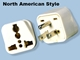 American Grounded Universal Plug Adaptor - SS417