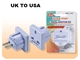 UK To US Adapter Plug SS422
