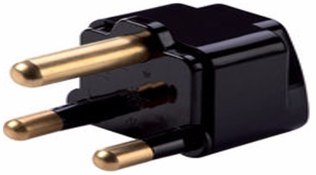SS-415SA Type M South Africa Universal Grounded Plug Adapter Black plug adapter,adapter plug,adaptor,ss415sa,plug socket,universal plug,adapters,south africa,europe,asia,africa,india,uk,universal adapters,220 plug,220v adapter,220 volt adapter,220 adaptor
