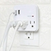 Seven Star SS504 3 Outlets Wall Tap Surge Protector with 2 USB Ports 110 Volt AC Power Plug