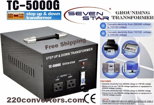 TC5000G 5000 Watt Step Up-Down Transformer Converter