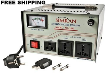 Simran AR1500 1500 W Watt Voltage Stabilizer Regulator 1500W Step Up Down Converter Transformer 110 220 Volt