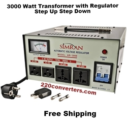 Simran AR3000 3000 W Watt Voltage Stabilizer Regulator 3000W Step Up Down Converter Transformer 110 220 Volt