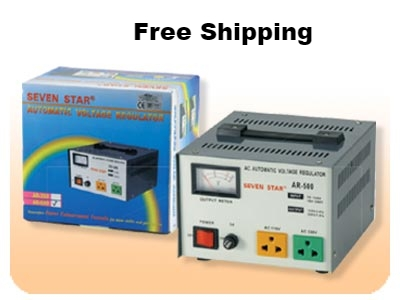 Seven Star AR500 500 W Watt Voltage Converter Built-in Stabilizer