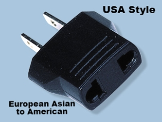 MF7 European Asian to American Plug Adapter