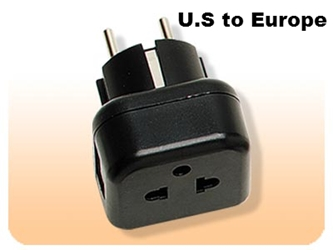VDE Earth 5mm Round Pin Plug American 3 Prong Plug Adapter USA to Euro