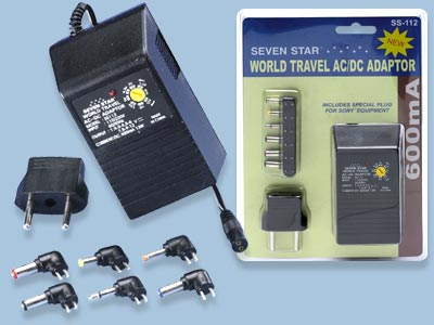 World Travel AC To DC Power Adapter - SS11