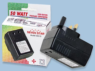 50 Watts 220 to 110 Volt Voltage Converter for UK - SS215