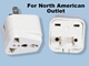 SS410 Universal Plug Adaptor for Standard USA Outlet