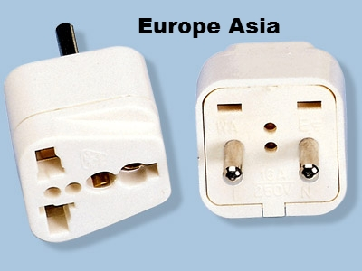 SS-411 Asian European Style Universal Plug Adapter