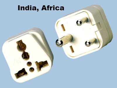 SS-415i India 3-Pin Universal Plug Adapter Three Round Prongs