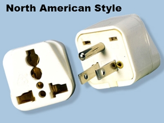 SS-417 Universal to American Grounded Plug Adapter For North American Outlet