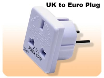 SS421 Adapter Plug from UK to standard European