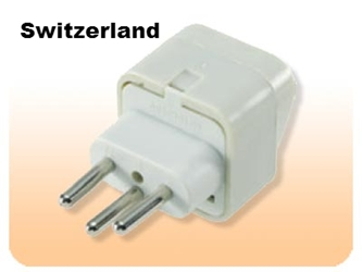 SS429 Switzerland Universal Plug Adapter Three Prong for Swiss Outlet