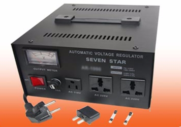 Seven Star AR-1500 1500 Watt Voltage Converter with Stabilizer Regulator 1500W Step Up Down Transformer