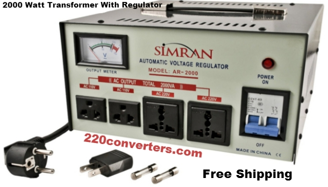 Simran AR2000 2000 W Watt Voltage Stabilizer Regulator 2000W Step Up Down Converter Transformer 110 220 Volt