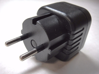 Plug Adapter Australia New Zealand to 2-Pin Schuko Style German Outlet Adapter