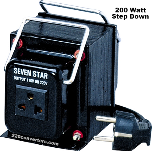 Seven Star THG-200UD 200 Watts Step Up-Down Voltage Converter 110V TO 220V