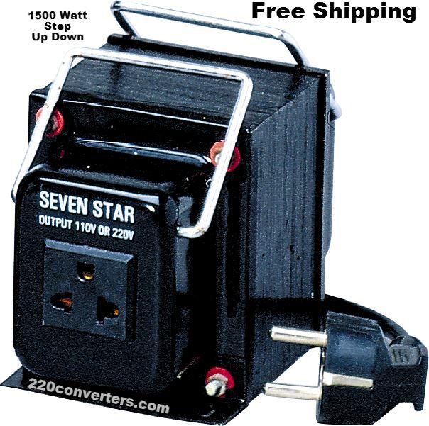 SevenStar THG-1500 UD Watt 220V//110V Step Up//Down Voltage Converter Transformer
