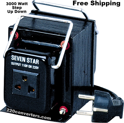 Seven Star THG3000UD 3000 W Watts Step Up-Down Voltage Converter 3000W Transformer Fuse Protected