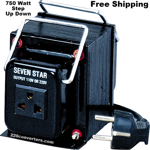 Seven Star THG750UD 750 W Watts Step Up-Down Voltage Converter 750W Heavy Duty Transformer