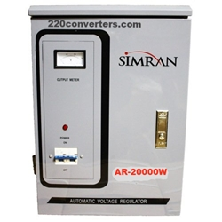 Simran AR20000 20000 W Watt Voltage Stabilizer Regulator - Transformer Converter Step Up and Down 20000w