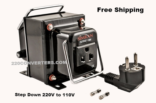 Simran THG-2000 2000 W Watts Voltage Converter Step Down Transformer