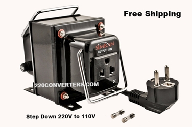 Simran THG3000 3000 W Watt Step Down Voltage Converter 220v to 110v Transformer