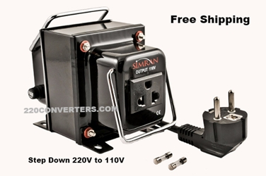 Simran THG750 750 Watt Step Down Voltage Converter 220v to 110v Transformer